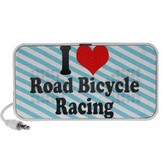 Amo competir con de la bicicleta del camino altavoz de viaje