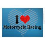 Amo competir con de la motocicleta felicitacion