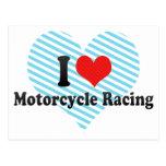 Amo competir con de la motocicleta postales
