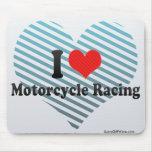 Amo competir con de la motocicleta alfombrilla de ratón