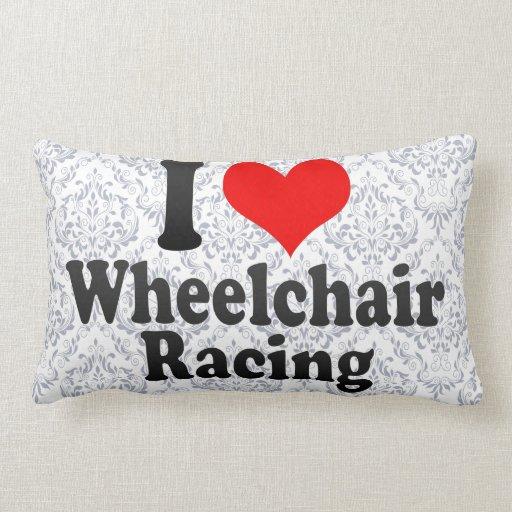 Amo competir con de la silla de ruedas almohada
