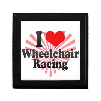 Amo competir con de la silla de ruedas caja de joyas