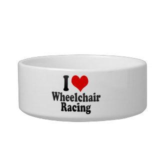 Amo competir con de la silla de ruedas tazón para agua para gatos