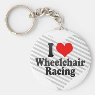 Amo competir con de la silla de ruedas llaveros personalizados
