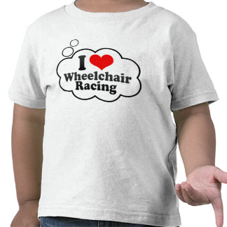 Amo competir con de la silla de ruedas camiseta