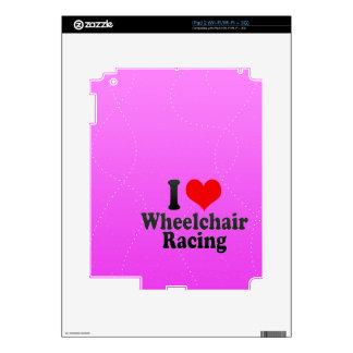 Amo competir con de la silla de ruedas skin para el iPad 2