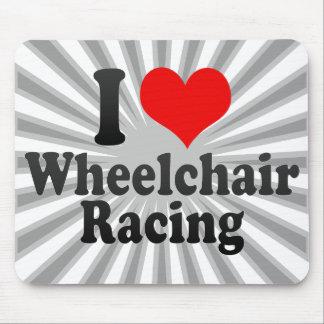 Amo competir con de la silla de ruedas tapete de ratón