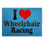 Amo competir con de la silla de ruedas tarjeton