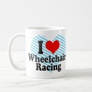 Amo competir con de la silla de ruedas tazas de café