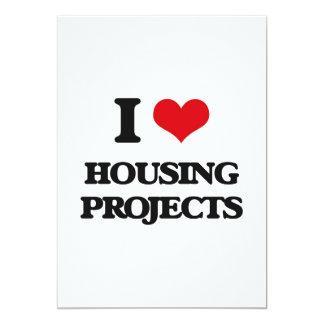 Amo complejos de viviendas invitación 12,7 x 17,8 cm