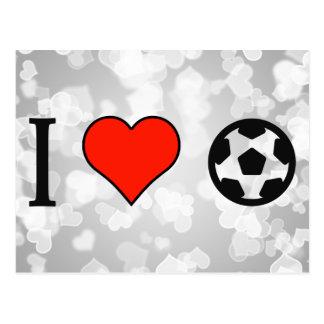 Amo comprar un balón de fútbol tarjetas postales