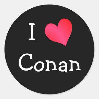 Amo Conan Pegatina Redonda