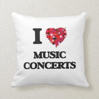 Amo conciertos de la música almohada