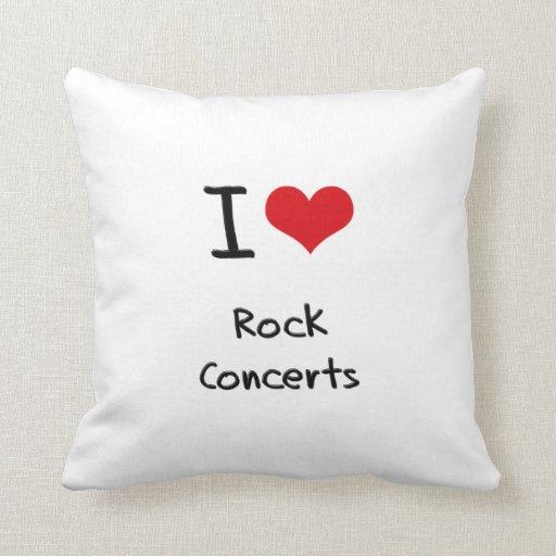 Amo conciertos de rock cojin