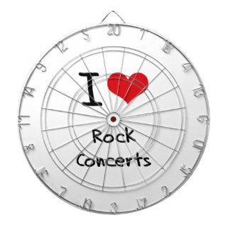Amo conciertos de rock tablero de dardos