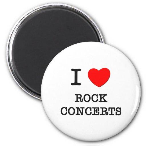 Amo conciertos de rock imán de nevera