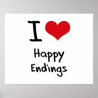 Amo conclusiones felices poster