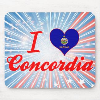 Amo Concordia Kansas Alfombrillas De Raton