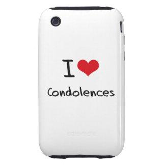 Amo condolencias tough iPhone 3 protectores