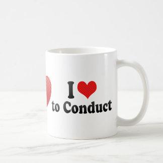 Amo conducir tazas de café
