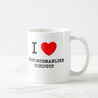 Amo conducta Unsportsmanlike Tazas De Café