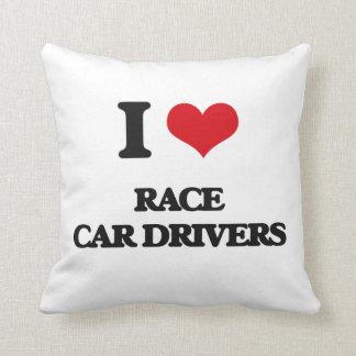 Amo conductores de coche de carreras cojin