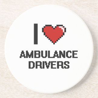 Amo conductores de la ambulancia posavasos diseño
