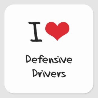 Amo conductores defensivos colcomanias cuadradass