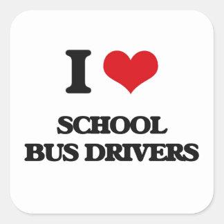 Amo conductores del autobús escolar colcomania cuadrada