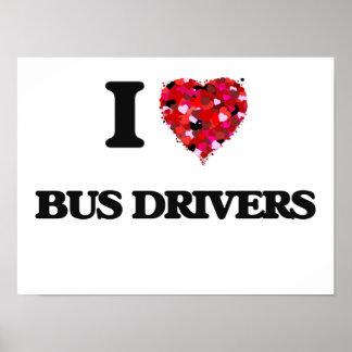 Amo conductores del autobús póster