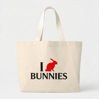 Amo conejitos bolsas de mano