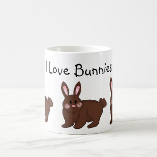 Amo conejitos tazas de café