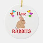 Amo conejos adorno