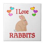 Amo conejos azulejo