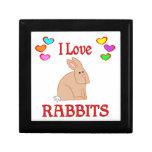 Amo conejos caja de recuerdo