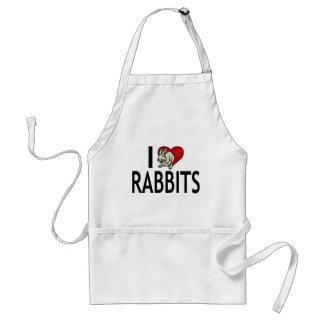 Amo conejos delantal