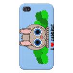 Amo conejos iPhone 4/4S carcasas