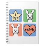 Amo conejos libro de apuntes