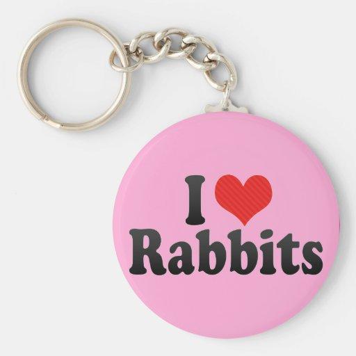 Amo conejos llavero personalizado