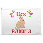 Amo conejos manteles