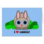 Amo conejos tarjeton