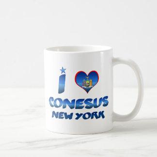 Amo Conesus, Nueva York Taza Básica Blanca