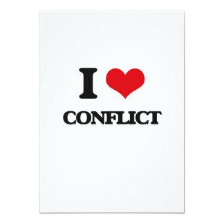 """Amo conflicto invitación 5"""" x 7"""""""