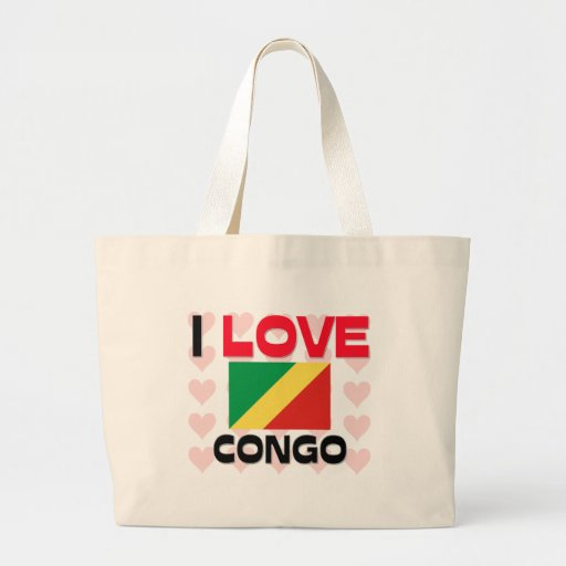 Amo Congo Bolsa Lienzo