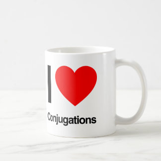 amo conjugaciones taza de café