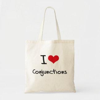 Amo conjunciones bolsa tela barata