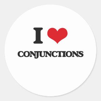 Amo conjunciones etiquetas redondas