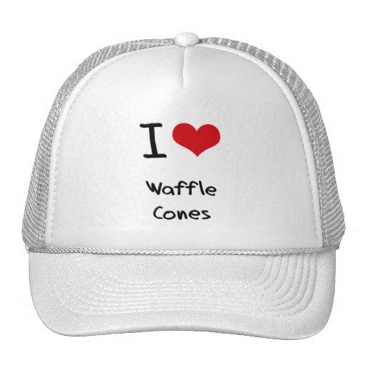Amo conos de la galleta gorras