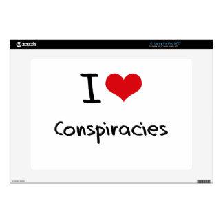Amo conspiraciones skins para 38,1cm portátiles
