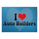Amo constructores autos tarjeta